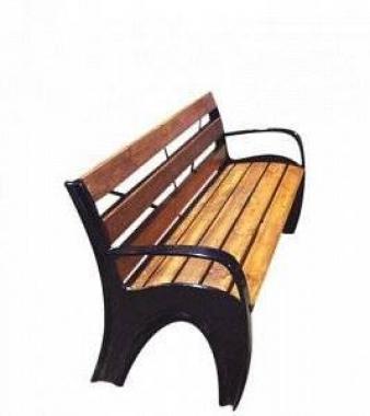 Скамейка чугунная «Волна»