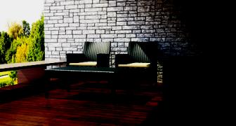 Стол (искусственный раттан) код 855