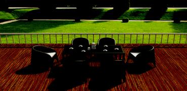 Стол (искусственный раттан) код 880