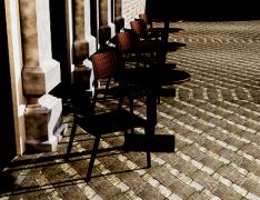 Стол (искусственный раттан) код 882