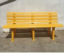 Скамья полимерная желтая