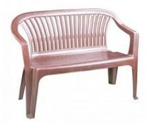 Скамейка пластиковая со спинкой Комфорт